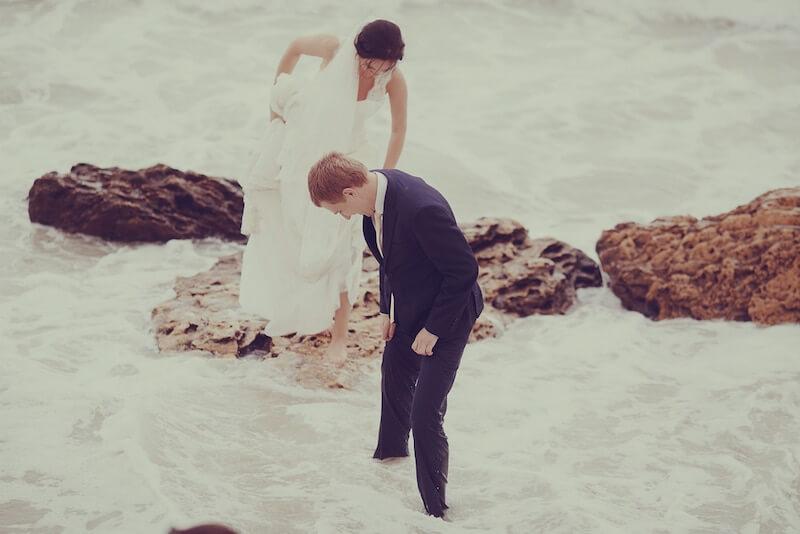 צילום חתונה בים